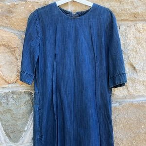 Marni denim dress with open back